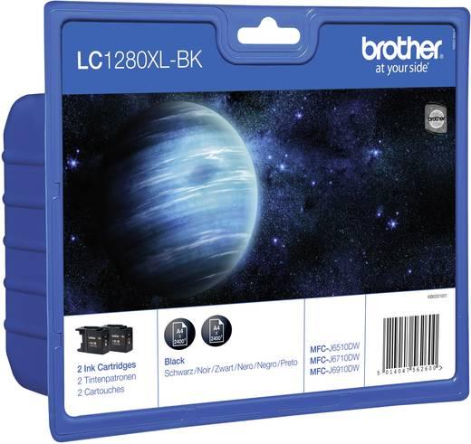 Brother Inkt LC-1280XL Origineel 2-pack Zwart LC1280XLBKBP2DR