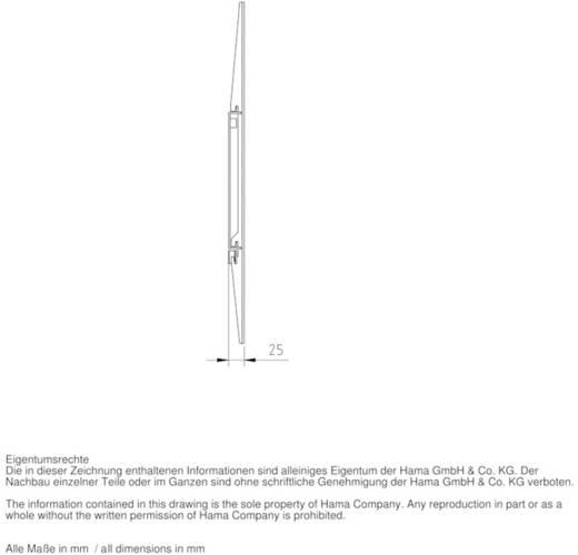 "TV-beugel Hama FIX ""Ultraslim"" XL 94,0 cm (37"") - 228,6 cm (90"") Vast"