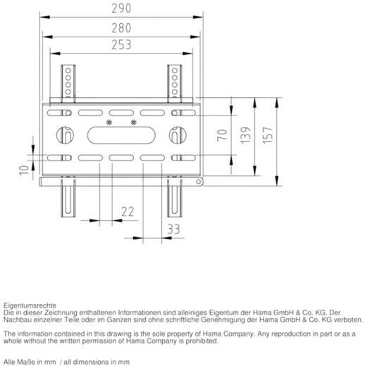 """TV-beugel Hama FIX """"Ultraslim"""" M 25,4 cm (10"""") - 94,0 cm (37"""") Vast"""
