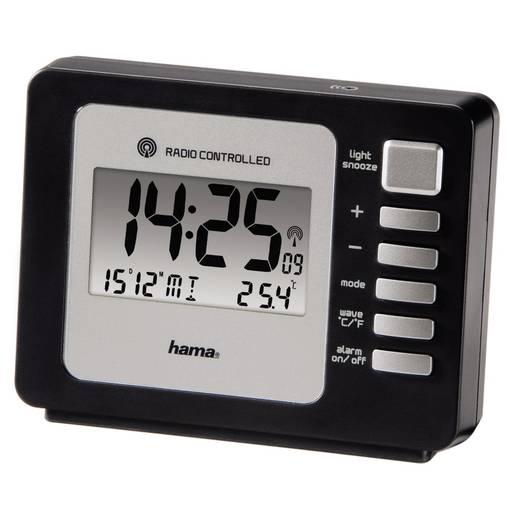 Wekker Zendergestuurd Zwart Alarmtijden: 2 Hama 00106938
