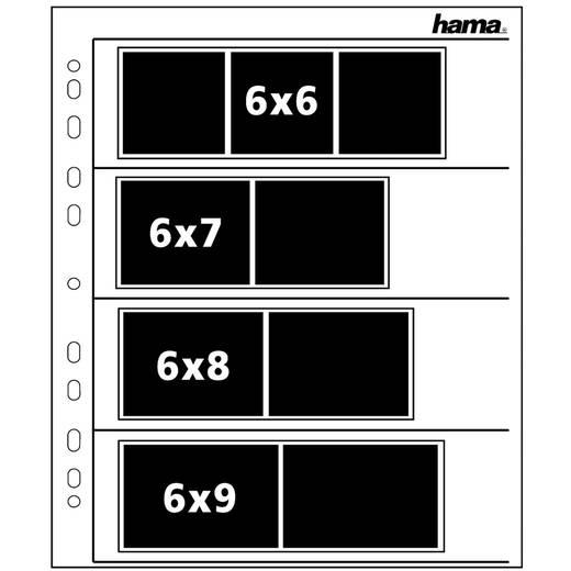 Negatiefbladen, 6 x 9 cm, pergamine mat