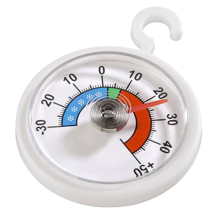 Thermometer voor koel- vrieskast. rond