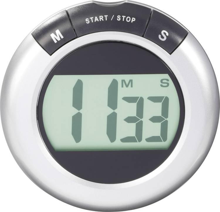 Timer KW-9058 Zilver. Zwart Digitaal