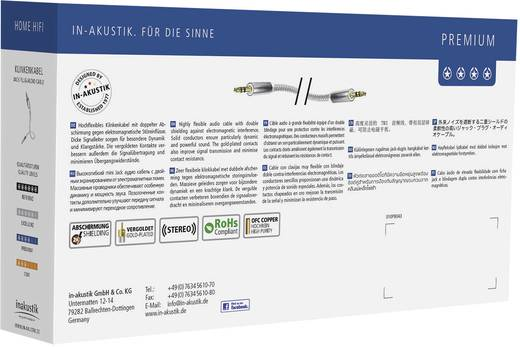 Inakustik Jackplug Audio Aansluitkabel [1x Jackplug male 3.5 mm - 1x Jackplug male 3.5 mm] 1.50 m Wit, Zilver Vergulde steekcontacten