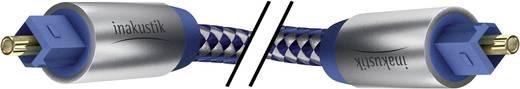 Toslink Digitale audio Aansluitkabel [1x Toslink-stekker (ODT) - 1x Toslink-stekker (ODT)] 1 m Blauw, Zilver Inakustik