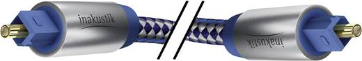 Toslink Digitale audio Kabel [1x Toslink-stekker (ODT) - 1x Toslink-stekker (ODT)] 2 m Blauw, Zilver Inakustik