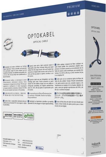 Toslink Digitale audio Kabel [1x Toslink-stekker (ODT) - 1x Toslink-stekker (ODT)] 10 m Blauw, Zilver Inakustik