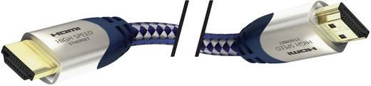 HDMI Aansluitkabel Inakustik 42302 [1x HDMI-stekker - 1x HDMI-stekker] 2 m Zilver-blauw