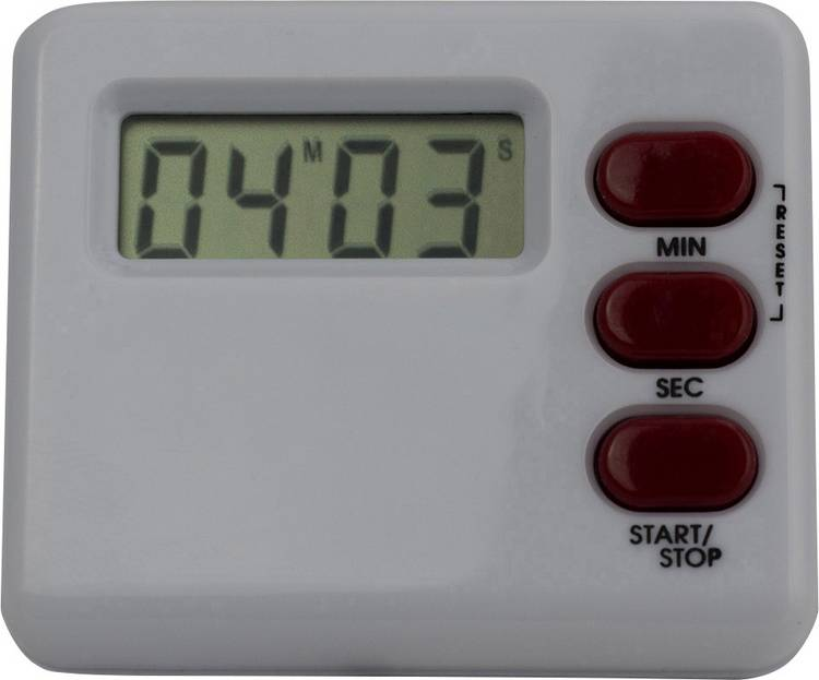 Timer M902012C Wit. Rood Digitaal
