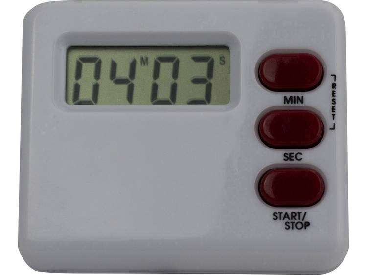Digitale timer (b x h x d) 60 x 40 x 15 mm Wit