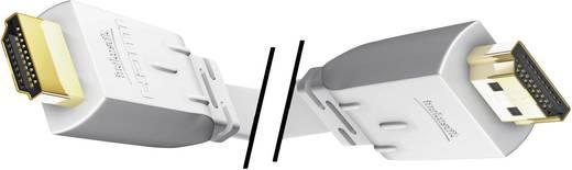 Inakustik Premium platte High Speed HDMI-kabel met Ethernet wit 3 m