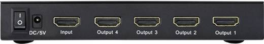 4 poorten HDMI-splitter Inakustik 4245114 Ultra HD-geschikt, 3D-weergave mogelijk 3840 x 2160 pix Zwart