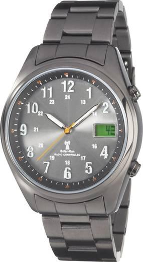 Solar Analoog Horloge Metaal Donkergrijs