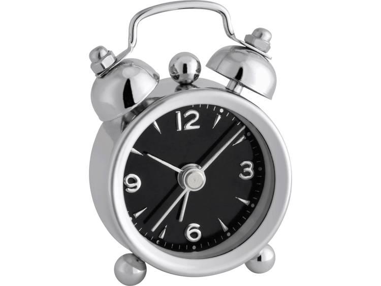 TFA 60.1000.01 Quartz Wekker Chroom Alarmtijden 1