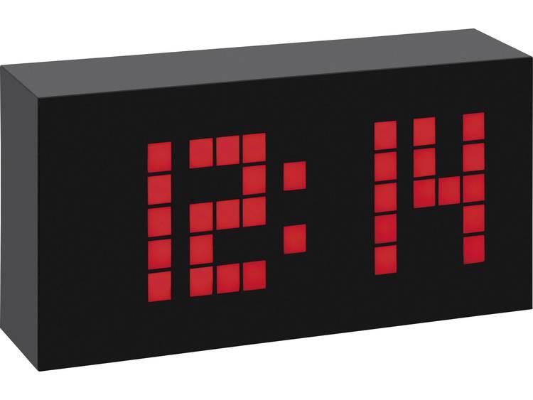 TFA 602508 Zendergestuurd Wekker Zwart