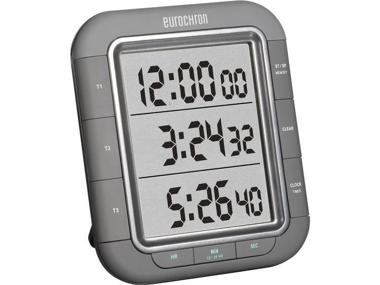 Eurochron Timer 3 regels EDT 9000 (b x h x d) 103 x 121 x 20 mm Zwart