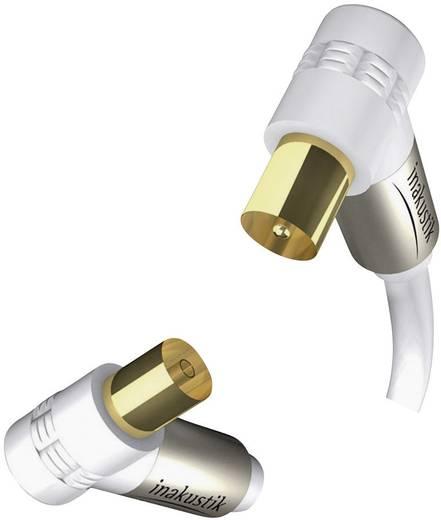 Inakustik Antenne Aansluitkabel [1x Antennestekker 75 Ω - 1x Antennebus 75 Ω] 7.50 m 100 dB Vergulde steekcontacten Wit
