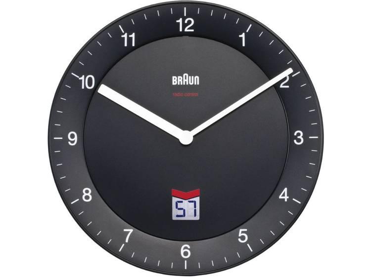 Braun 66012 Wandklok Zendergestuurd 20 cm Zwart Slepend uurwerk geluidsloos