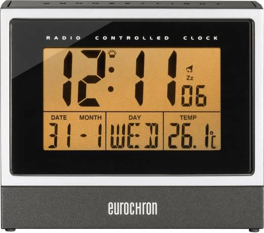 Wekker Zendergestuurd Zwart/zilver Alarmtijden: 1 Eurochron C8239
