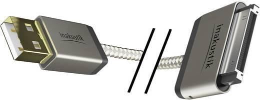 Inakustik iPad/iPhone/iPod Aansluitkabel [1x USB 2.0 stekker A - 1x Apple dock-stekker] 2 m