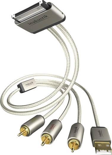 Inakustik iPad/iPhone/iPod Aansluitkabel [3x Cinch-stekker, USB 2.0 stekker A - 1x Apple dock-stekker] 1 m