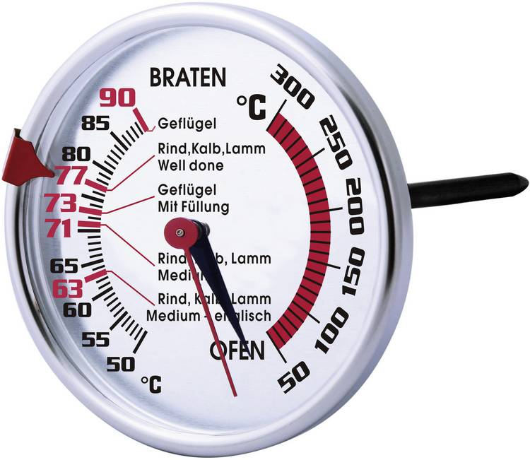 Sunartis T409A Barbecuethermometer rund. gevogelte. lam. kalf
