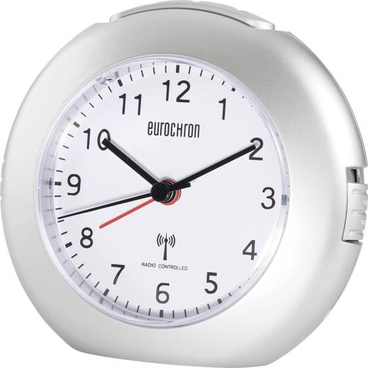 Wekker Zendergestuurd Zilver Alarmtijden: 1 Eurochron EFW 5000