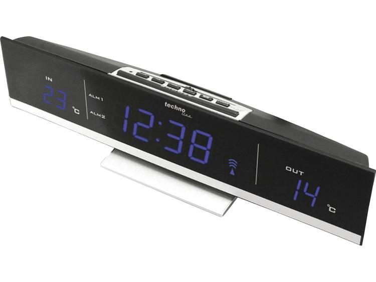 Techno Line WS 6810 B Zendergestuurd Wekker Zwart Alarmtijden 2