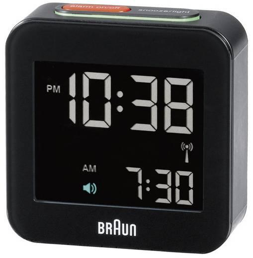 Wekker Zendergestuurd Zwart Braun 66015