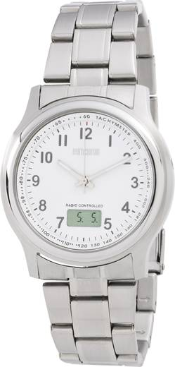 Eurochron TQSS08823G22 Analoog, Digitaal Horloge RVS Zilver
