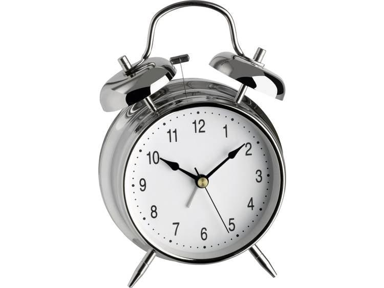 TFA 98.1043 Quartz Wekker Zilver Alarmtijden 1