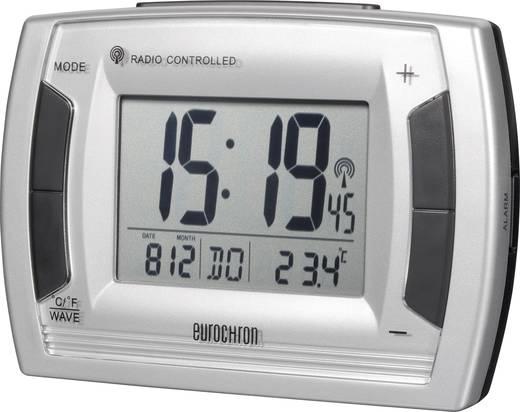 Wekker Zendergestuurd Zilver, Zwart Alarmtijden: 2 Eurochron RC 236