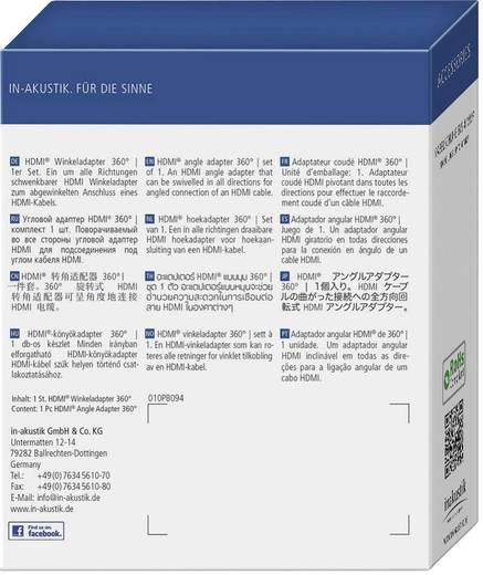 Adapter HDMI [1x HDMI-stekker - 1x HDMI-bus] Zwart Vergulde steekcontacten, High Speed HDMI met ethernet Inakustik