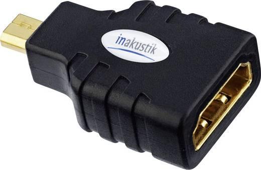 HDMI Adapter [1x HDMI-stekker D micro - 1x HDMI-bus] Zwart Vergulde steekcontacten Inakustik