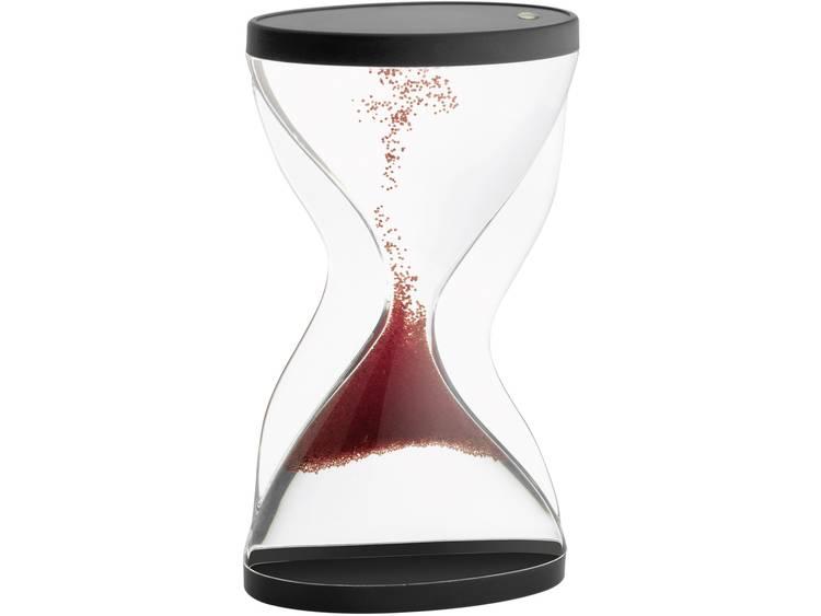 TFA Dostmann 18.6004.05 Zandloper Acrylglas helder. Rood. Zwart Mechanisch