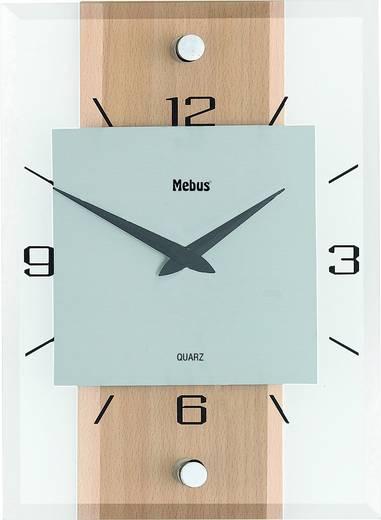 Mebus 18220 Quarz Wandklok 20 cm x 28 cm x 5 cm Beuken, Aluminium