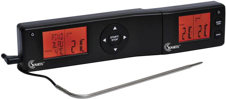 Sunartis ETC536 Keukenthermometer met timer bakken