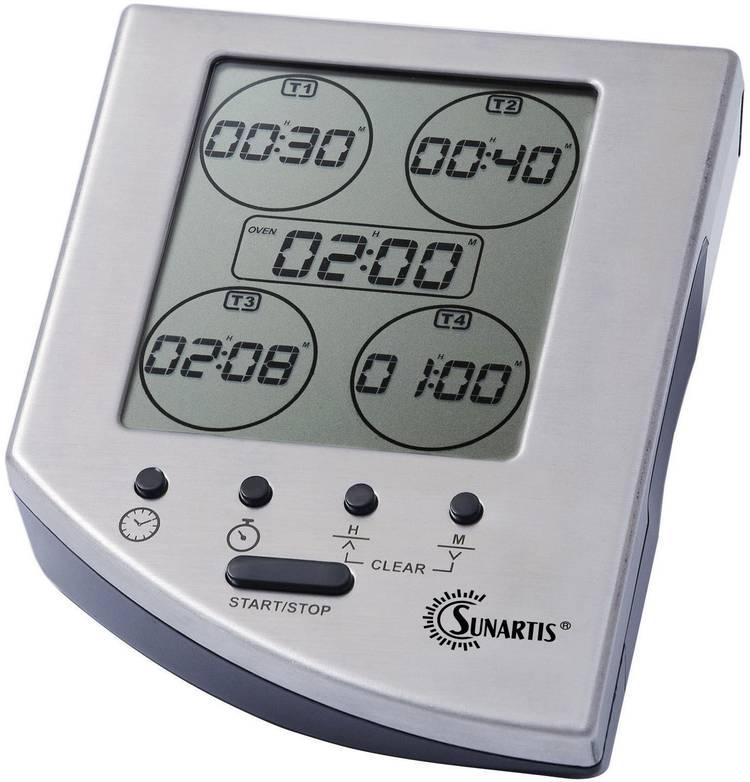 Timer Sunartis EC 341 Zilver Digitaal