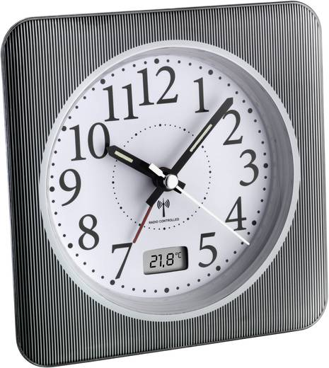 Wekker Zendergestuurd Grijs, Wit Alarmtijden: 1 TFA 60.1502.10
