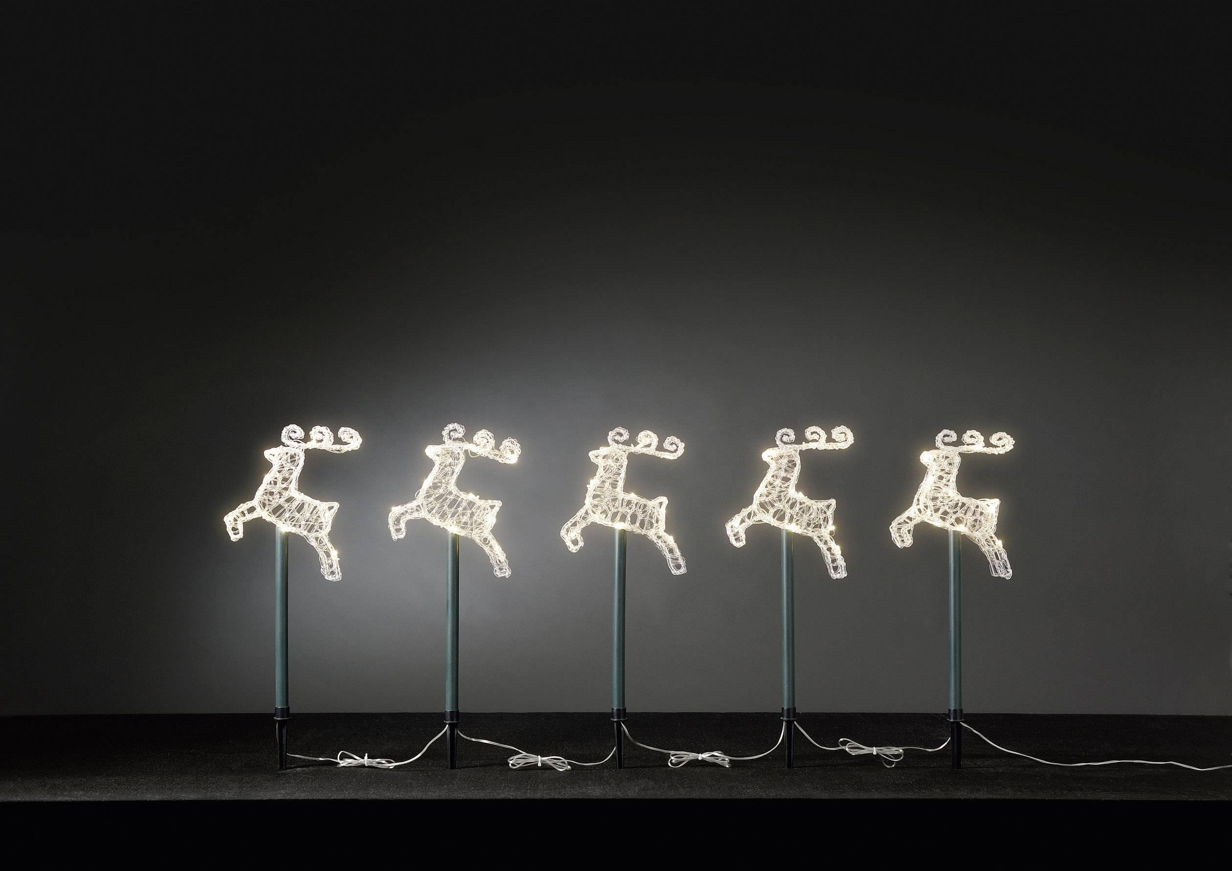 Konstsmide 4444-103 LED-kerstdecoratie Rendier LED Transparant ...