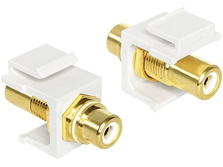 Delock Cinch Audio Adapter [1x Cinch-koppeling 1x Cinch-koppeling] Wit