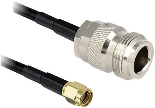 Delock WiFi-antenne Verlengkabel [1x RP-SMA-stekker - 1x N-bus] 1 m Zwart