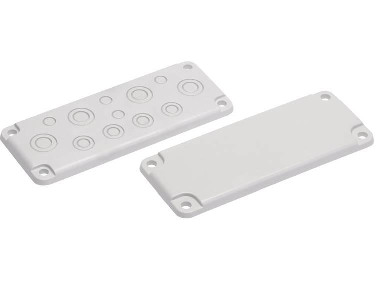 Fibox EK MB 10857 Kabeldoorvoeringsplaat met uitsparingen Polycarbonaat Lichtgrijs (RAL 7035) 1 stuks
