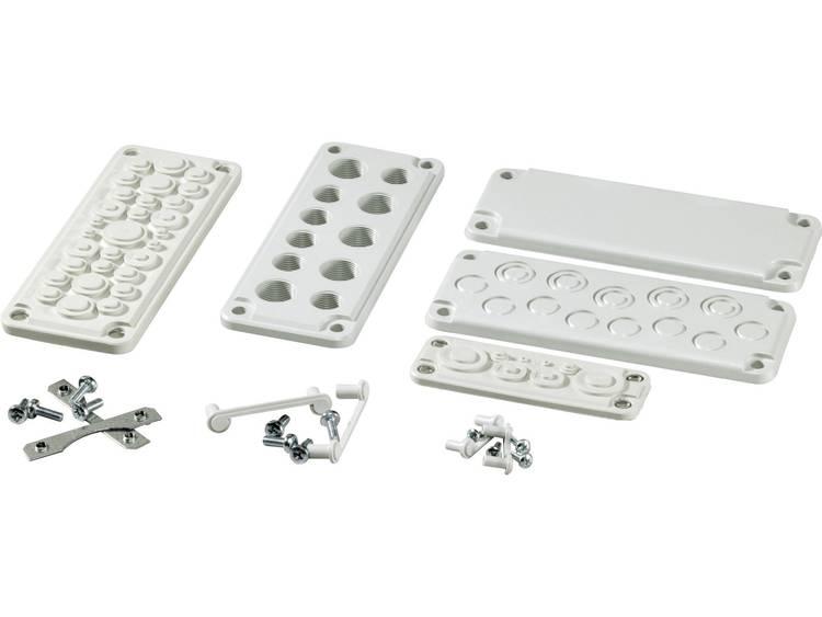 Fibox MB 10892 SET Kabeldoorvoeringsplaat met uitsparingen Polycarbonaat Lichtgrijs (RAL 7035) 1 stuks