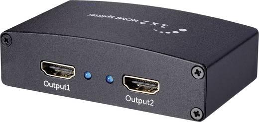 2 poorten HDMI-splitter SpeaKa Professional 674352 Ultra HD-geschikt, 3D-weergave mogelijk 3840 x 2160 pix Zwart