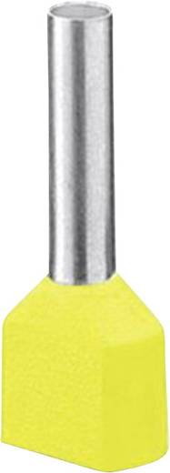 Phoenix Contact 3201013 Dubbele adereindhuls 1 x 6 mm² x 14 mm Deels geïsoleerd Geel 100 stuks