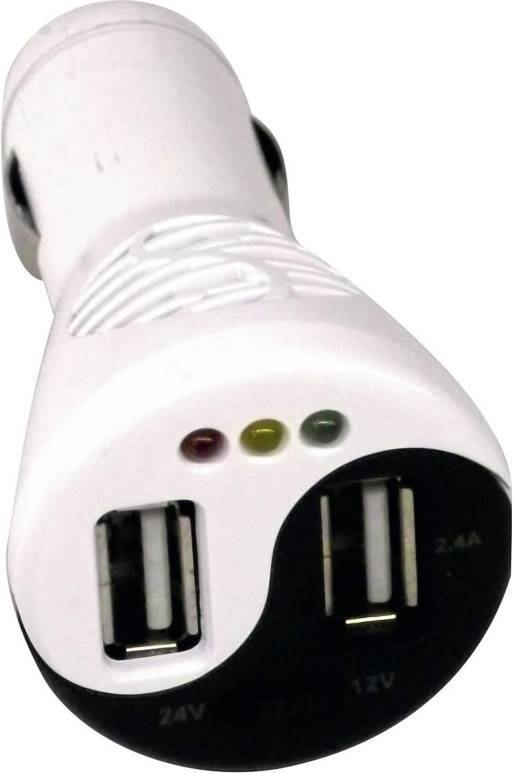 Image of Profi Power TP-15TC USB-adapter voor de sigarettenaansteker met accutester Stroombelasting (max.)=3.4 A Geschikt voor Sigarettenaansteker, USB-A