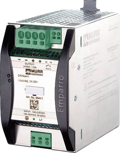Murr Elektronik Emparro 20-100-240/24 Din-rail netvoeding 24 V/DC 20 A 480 W 1 x