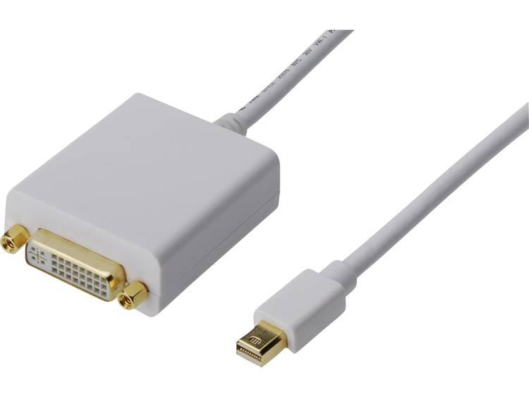 Digitus DisplayPort-DVI Adapter [1x Mini-DisplayPort stekker => 1x DVI-bus 24+5-polig] Wit