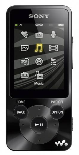 MP3-speler, MP4-speler Sony NWZ-E585 Walkman 16 GB Zwart FM-radio, Digitale ruisminimalisering